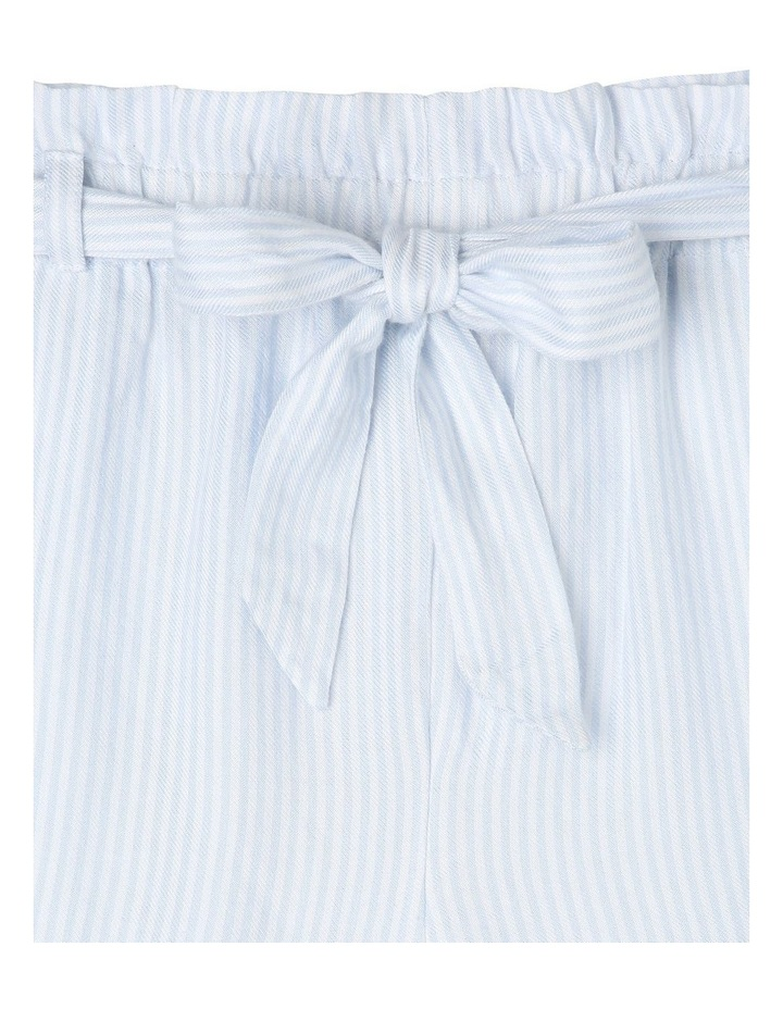 Woven Drape Paperbag Short - Light Blue Ticking Stripe image 2