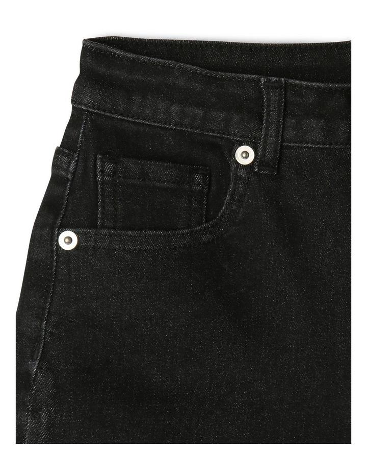 Black High-Waist Denim Shorts image 3