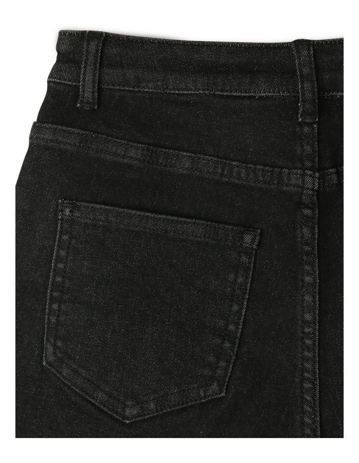 Black High-Waist Denim Shorts image 4