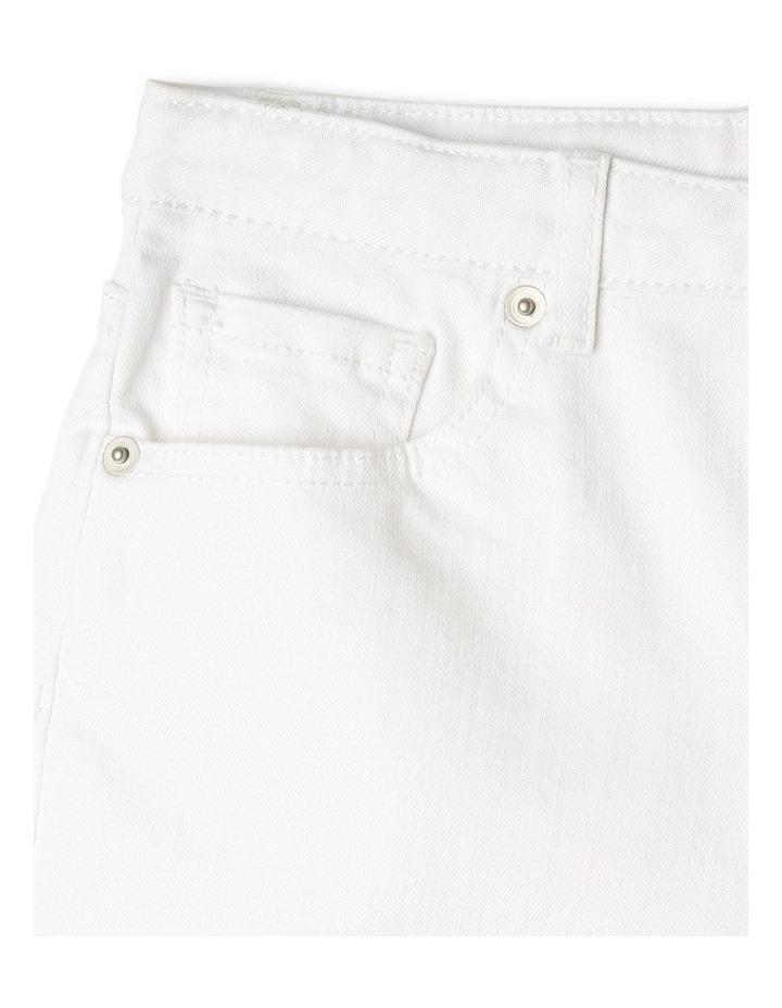 White High-Waist Denim Shorts image 3