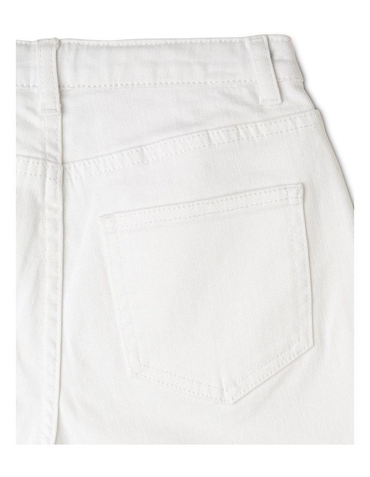 White High-Waist Denim Shorts image 4