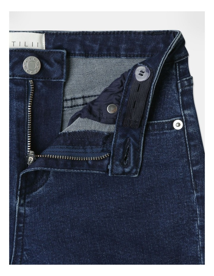 High-Waisted Denim Shorts Indigo image 4