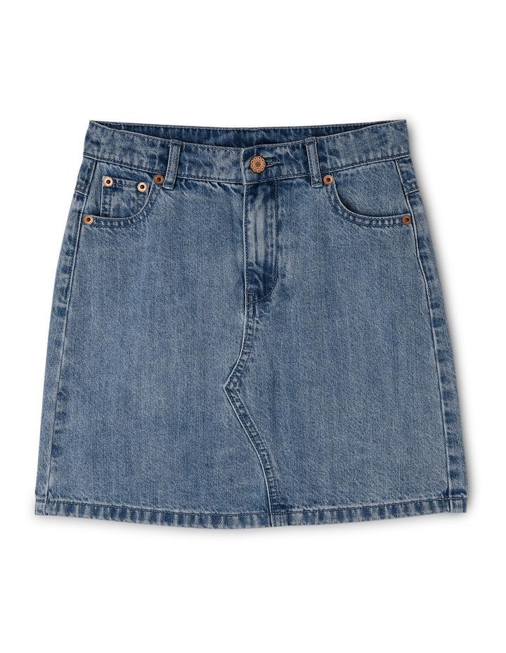 High Waisted Denim Skirt image 1