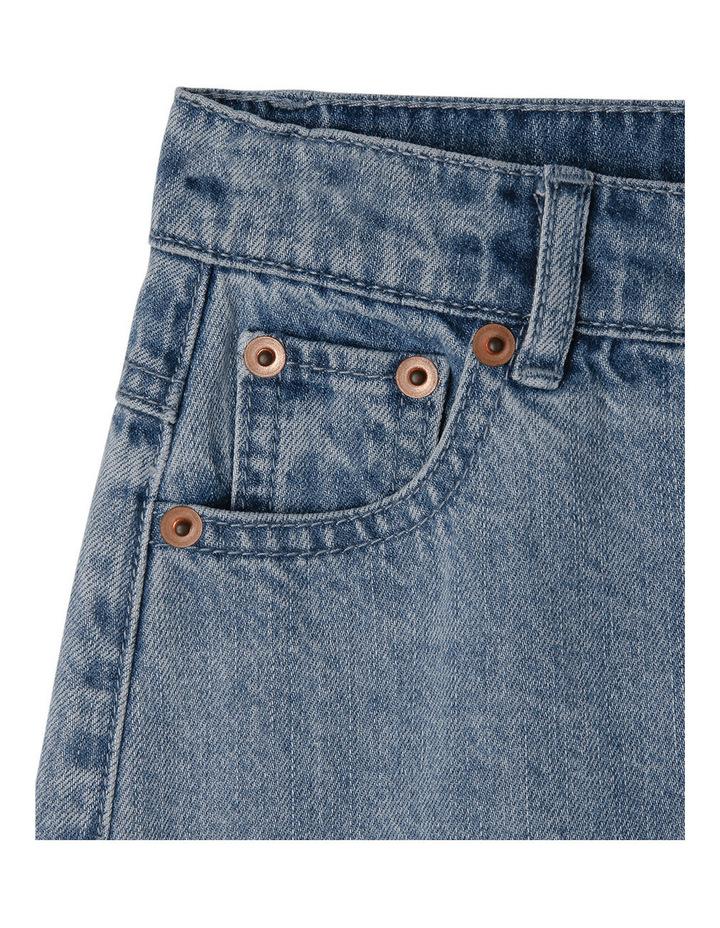 High Waisted Denim Skirt image 2