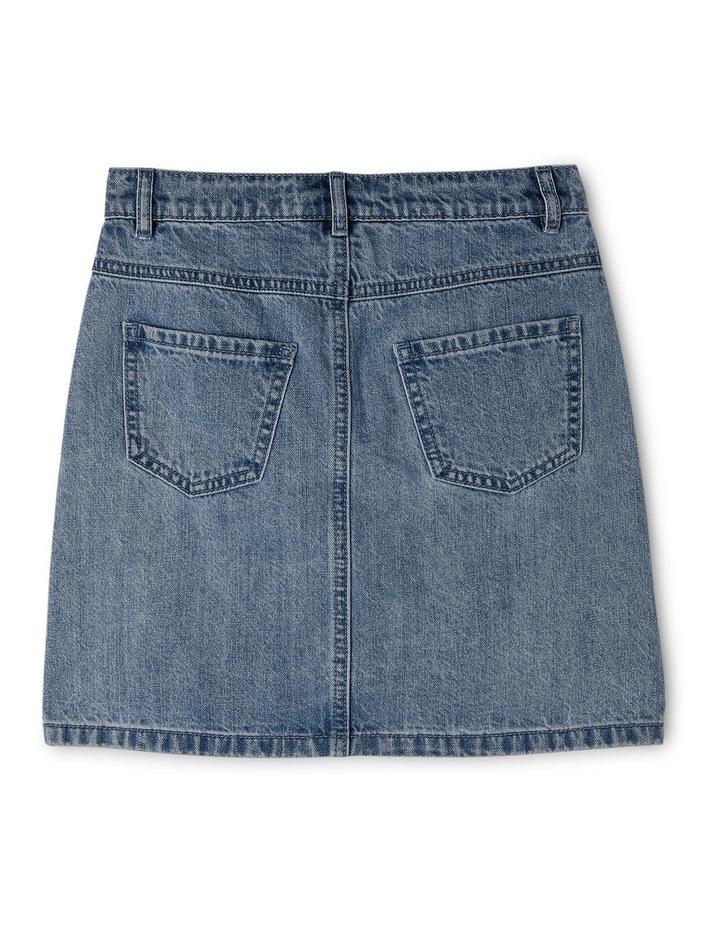 High Waisted Denim Skirt image 3