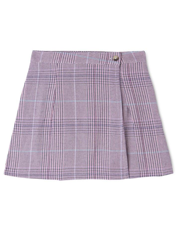 Woven Check Wrap Skirt image 1