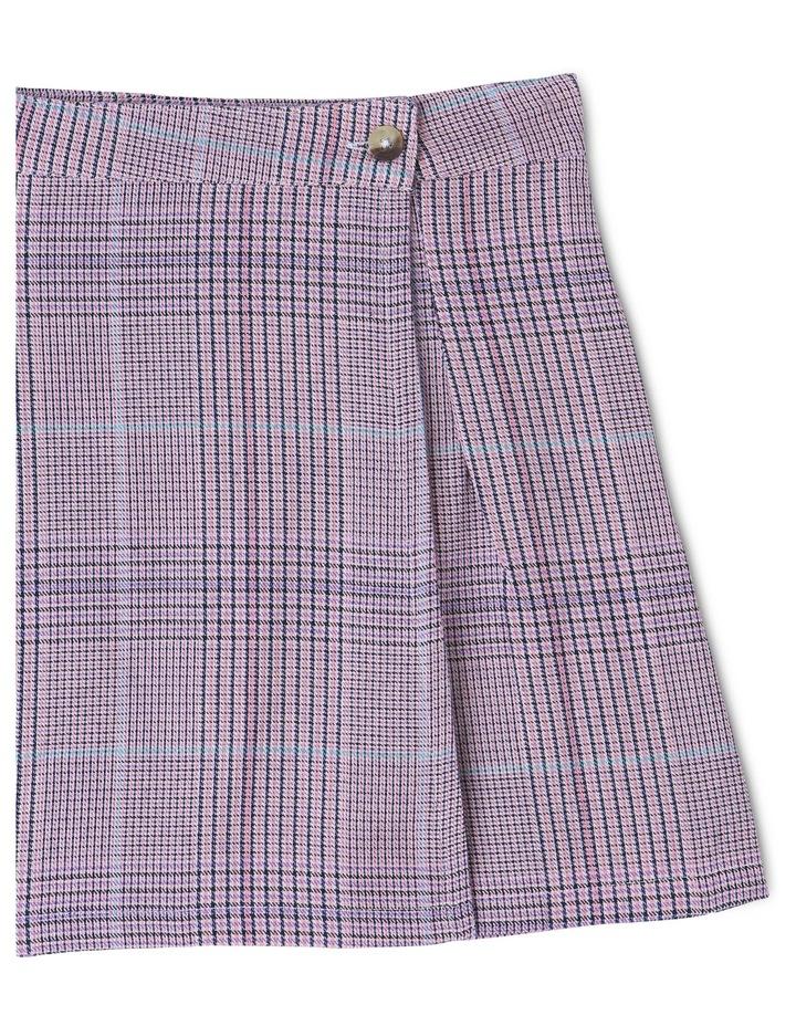 Woven Check Wrap Skirt image 2