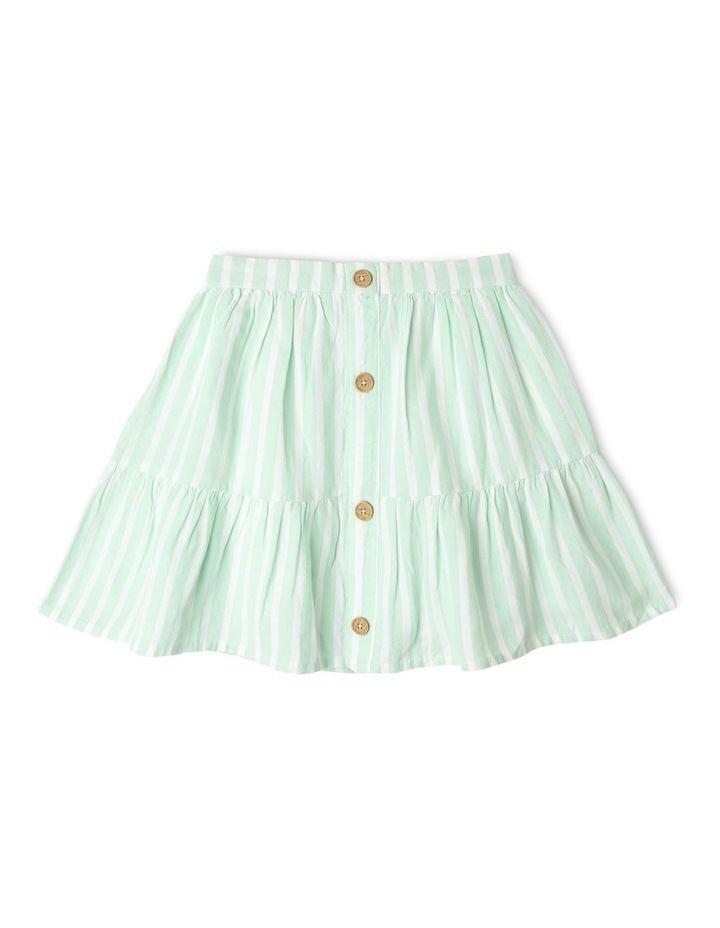 Linen Tiered Skirt image 1