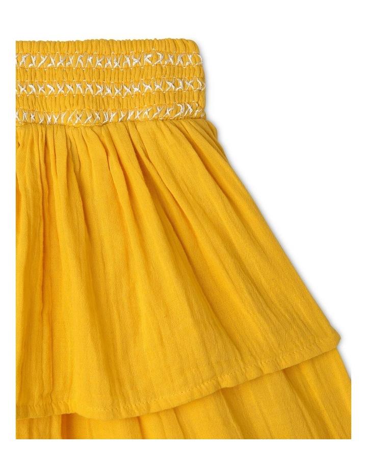 Woven Skirt with Shirred Waist image 2