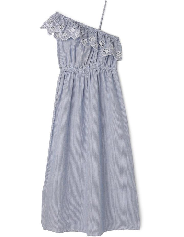 One Shoulder Stripe Maxi Dress image 1