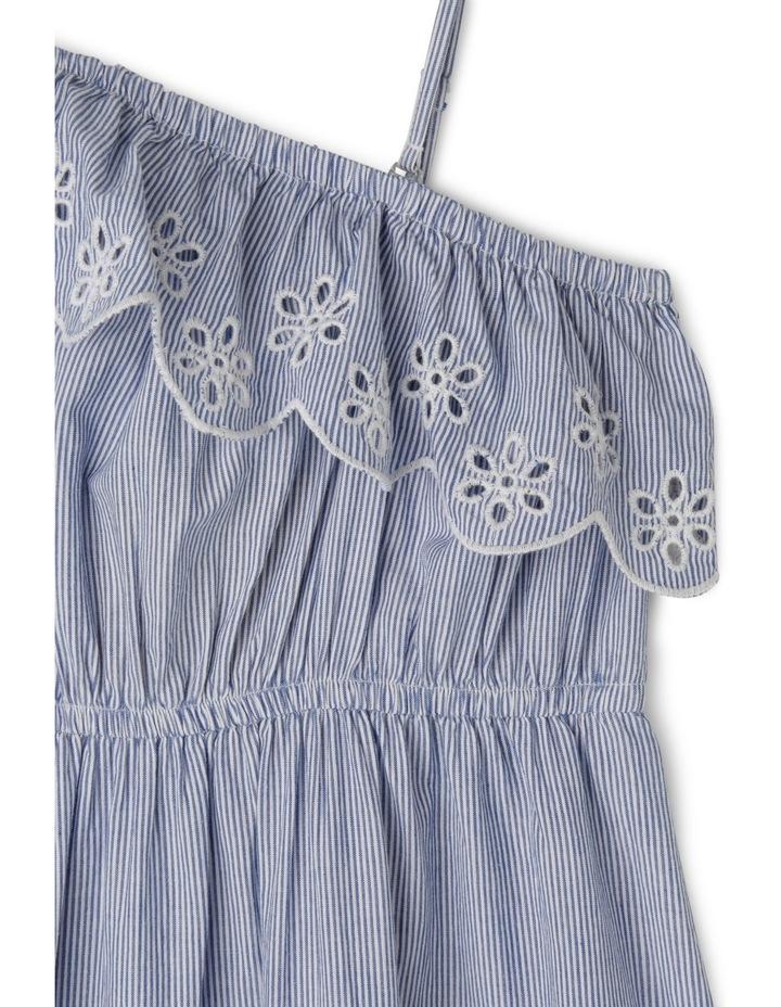 One Shoulder Stripe Maxi Dress image 2