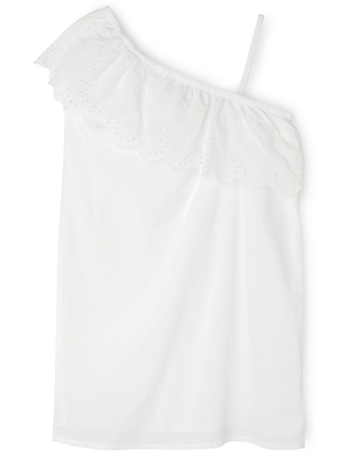 One Shoulder Dress with Frill image 1