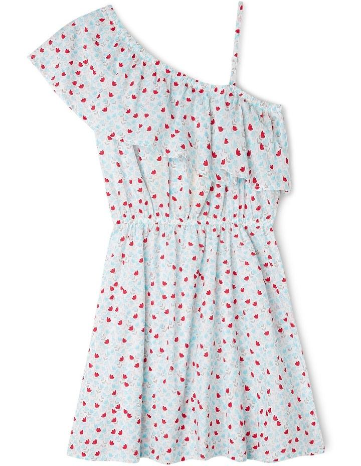 One Shoulder Floral Dress image 1