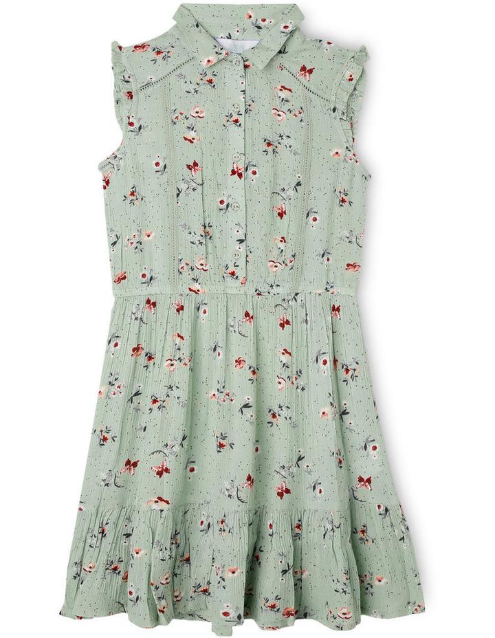 Floral Print Woven Shirt Dress image 1
