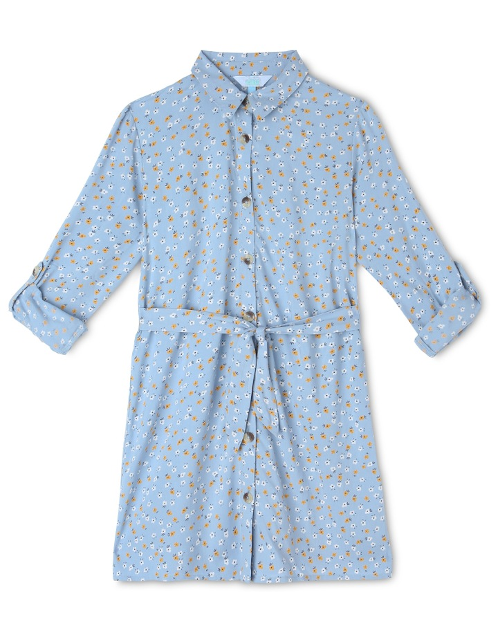 Woven Shirt Dress image 1