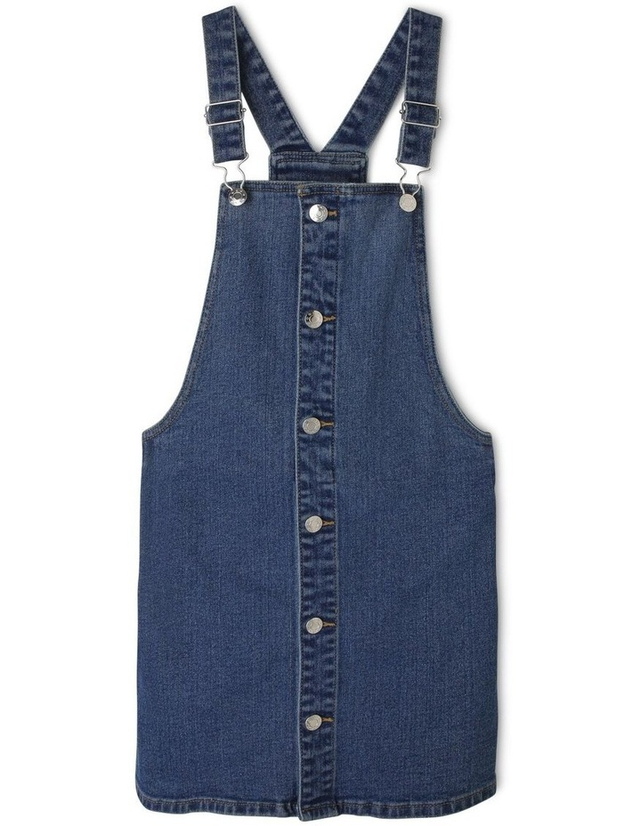 Denim Dress with Button Front image 1