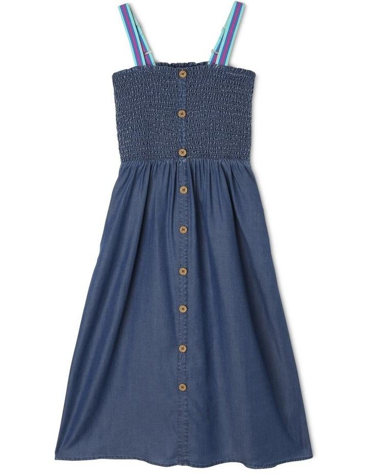 Tencel Shirred Bodice Dress image 1