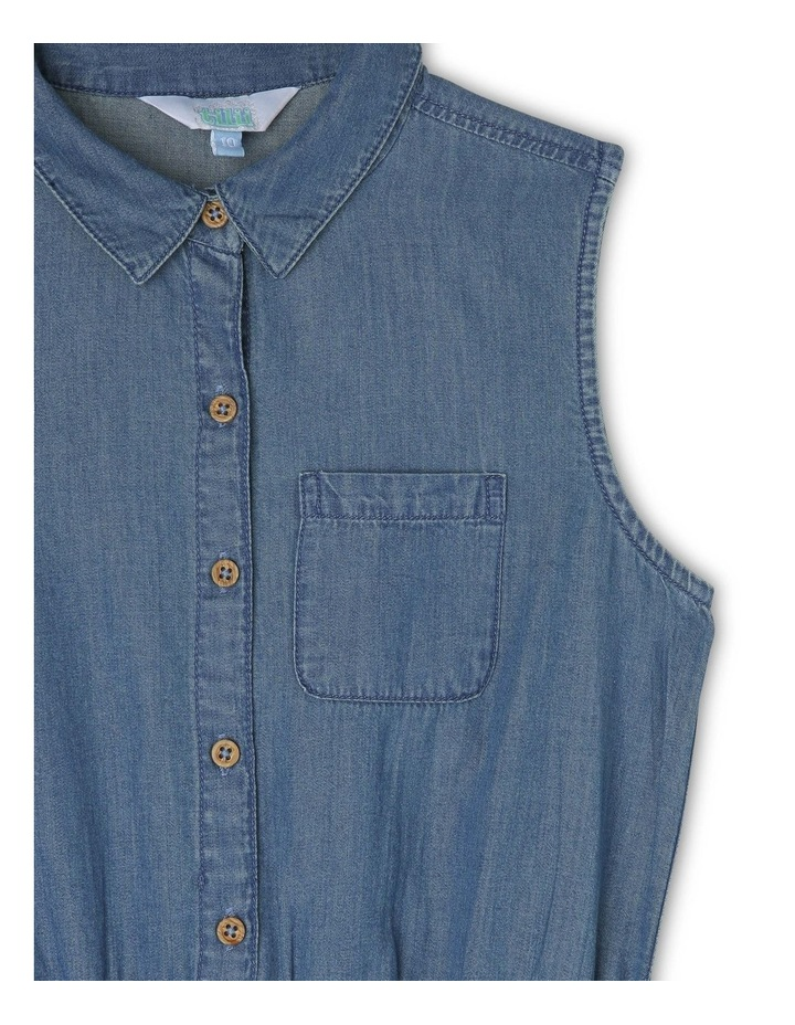 Chambray Dress with Tie Waist image 2