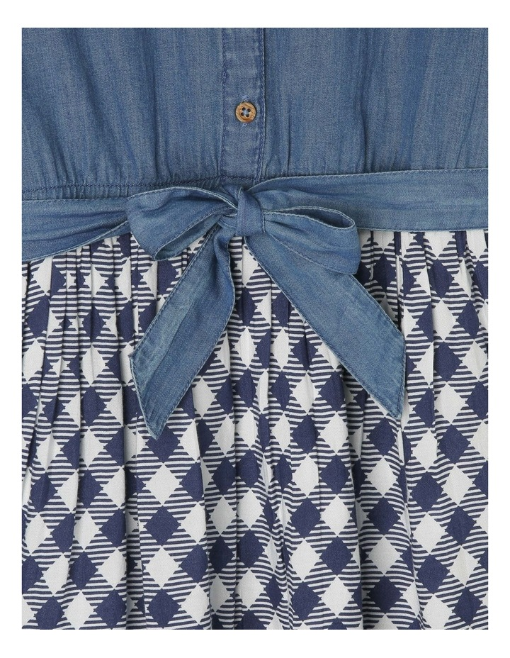 Chambray Dress with Tie Waist image 3