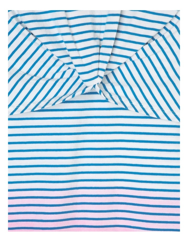 Striped Knit T-Shirt Dress with Knotted Front image 2