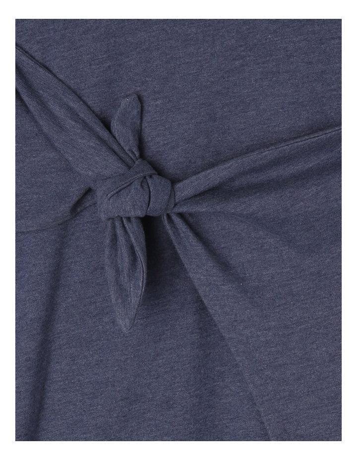 Knit Side Tie Dress Denim Look image 2