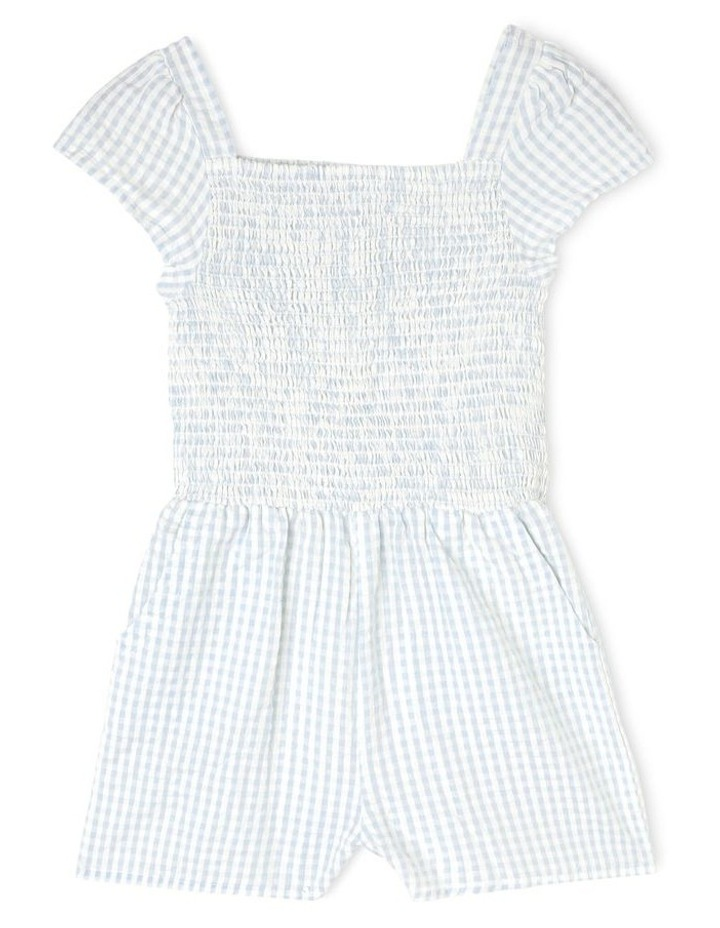 Woven Shirred Gingham Playsuit image 1