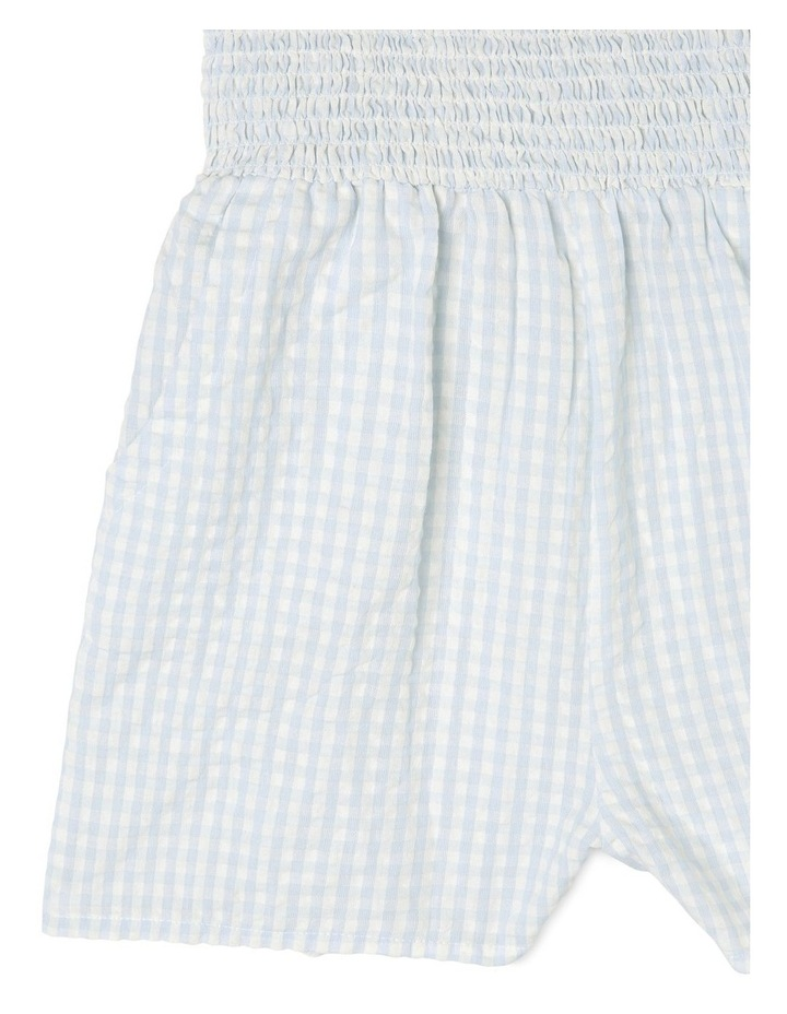 Woven Shirred Gingham Playsuit image 3
