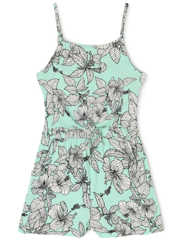 Woven Crinkle Floral Playsuit image 1