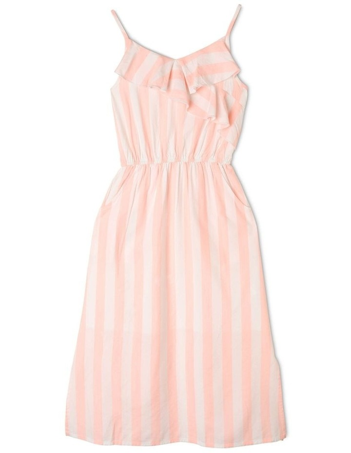 Woven Frill Neck Maxi Dress image 1