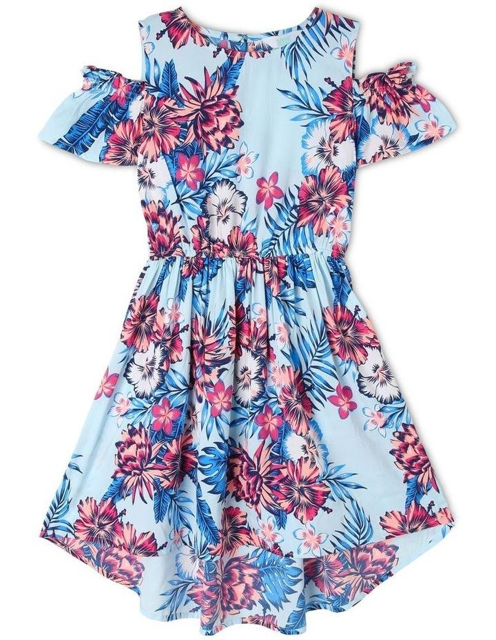 Woven Cold Shoulder Hi-Lo Dress image 1