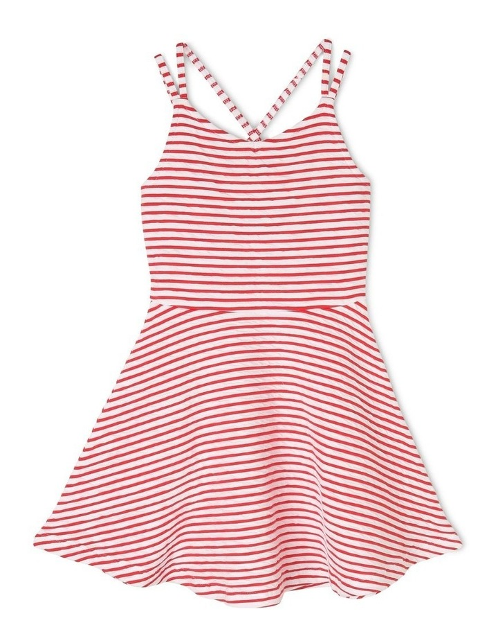 Textured Stripe Skater Dress image 1