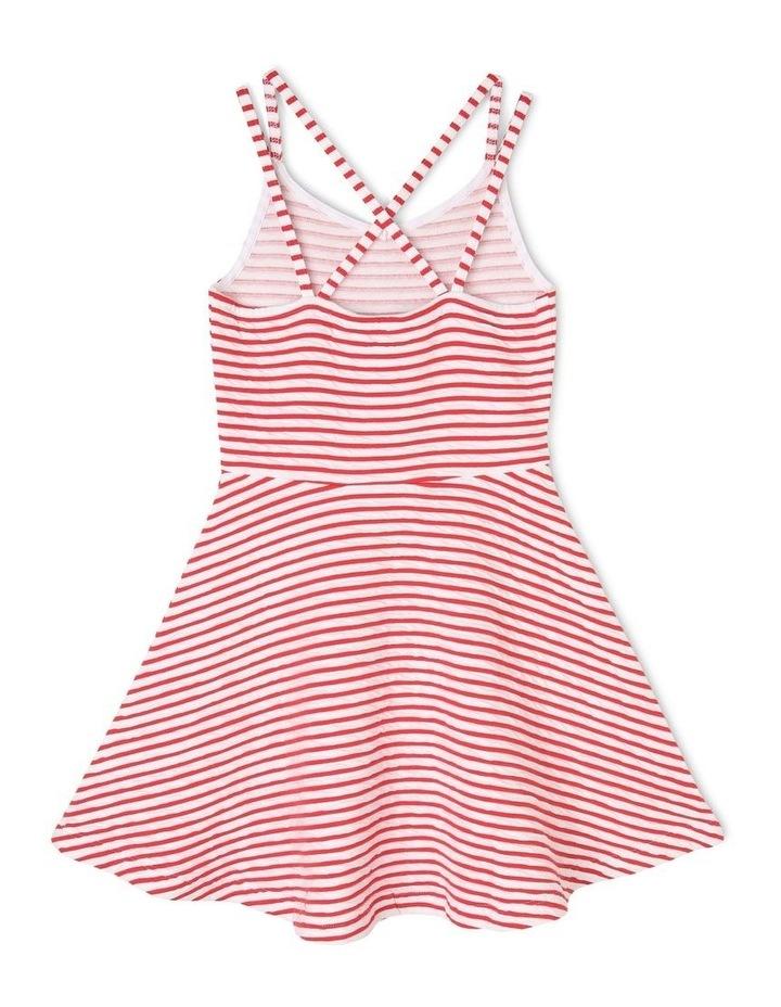 Textured Stripe Skater Dress image 2