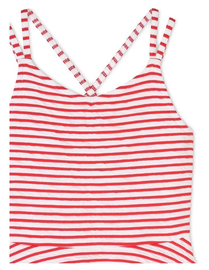Textured Stripe Skater Dress image 3