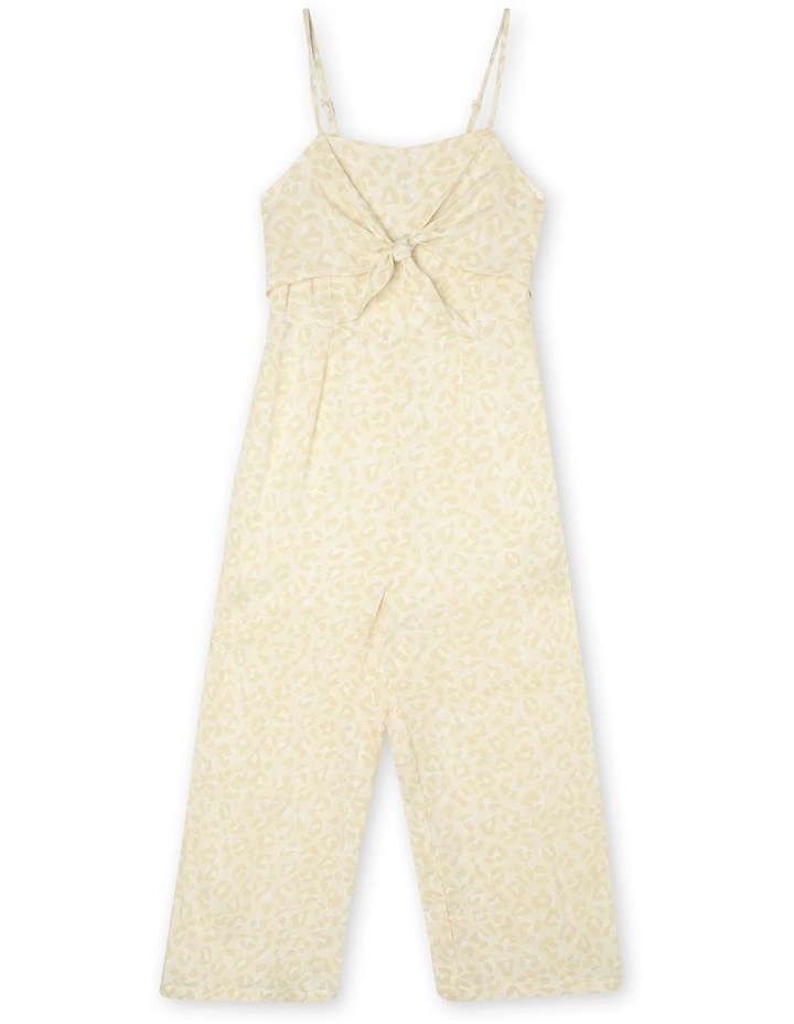 Woven Jumpsuit With Tie Top image 1