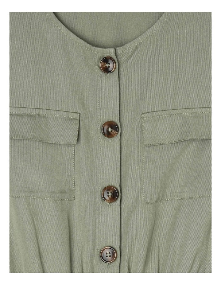 Short-Sleeve Tencel Boiler Playsuit - Khaki image 2