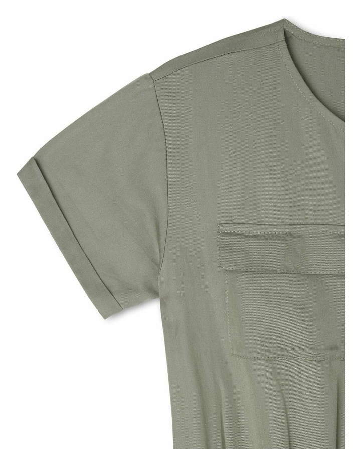 Short-Sleeve Tencel Boiler Playsuit - Khaki image 3
