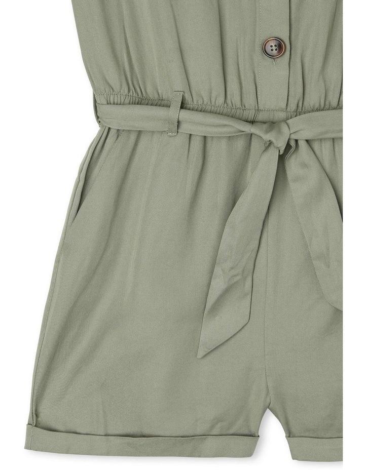 Short-Sleeve Tencel Boiler Playsuit - Khaki image 4