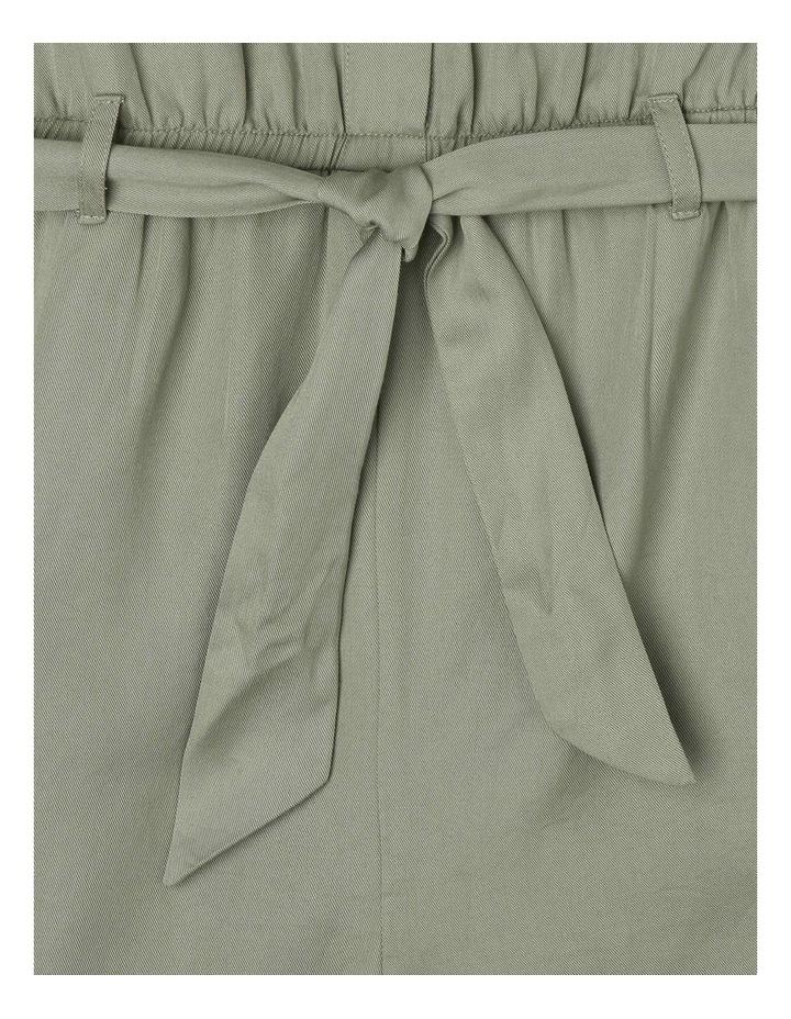 Short-Sleeve Tencel Boiler Playsuit - Khaki image 5