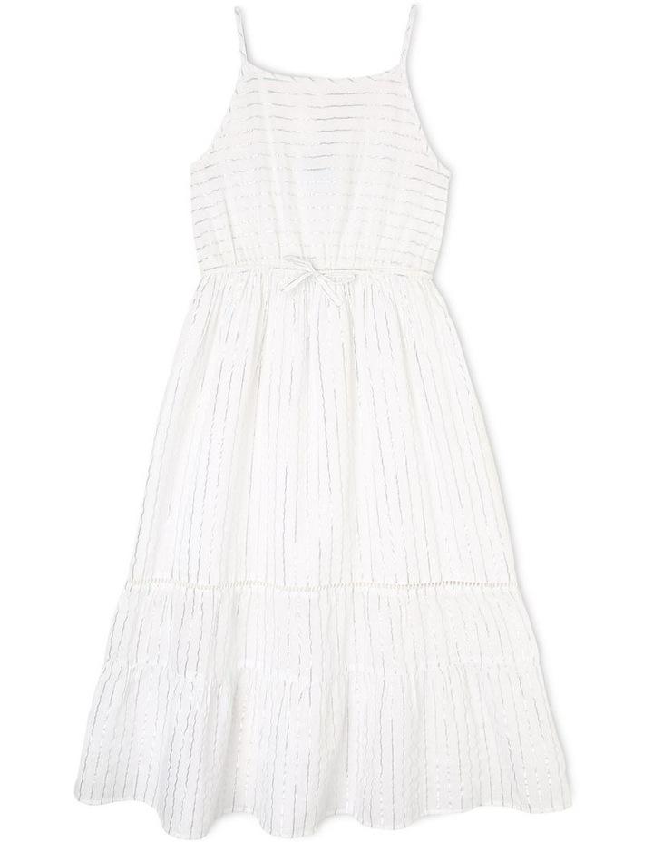 Woven Lurex Maxi Dress image 1