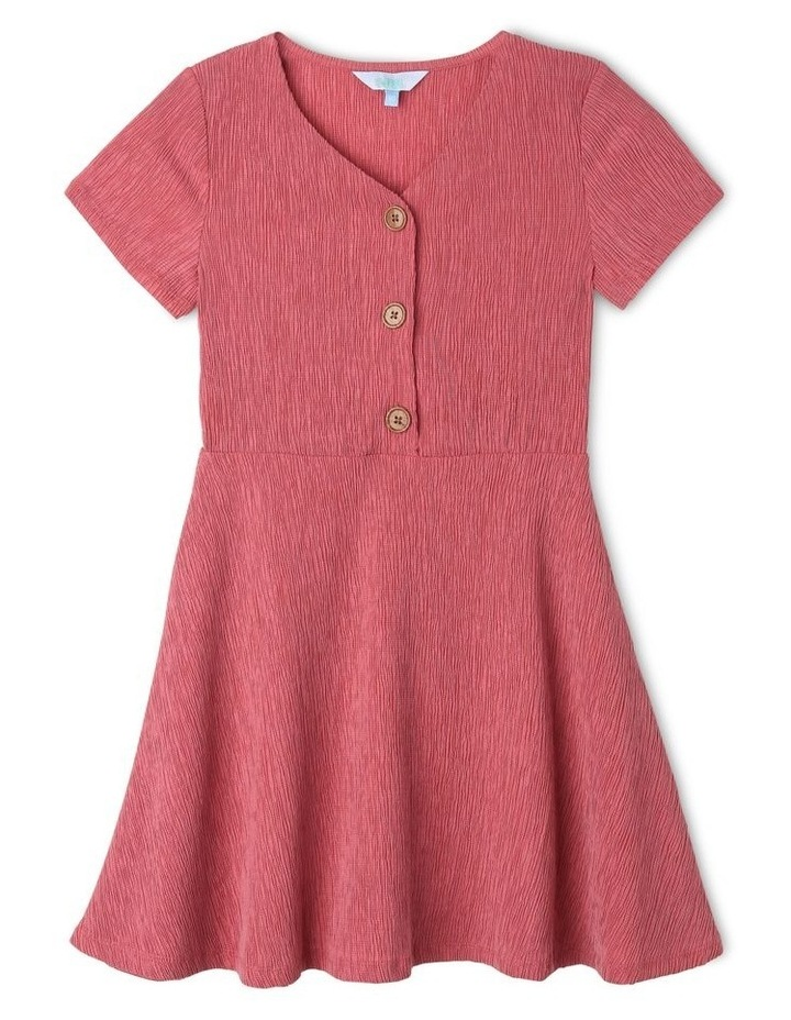 Crinkle Knit Skater Dress image 1