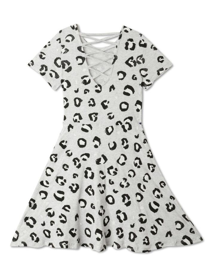 Rib Knit Skater Dress image 3