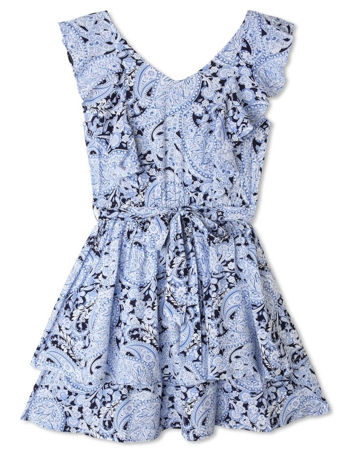 Woven Frill Dress with Belt image 1
