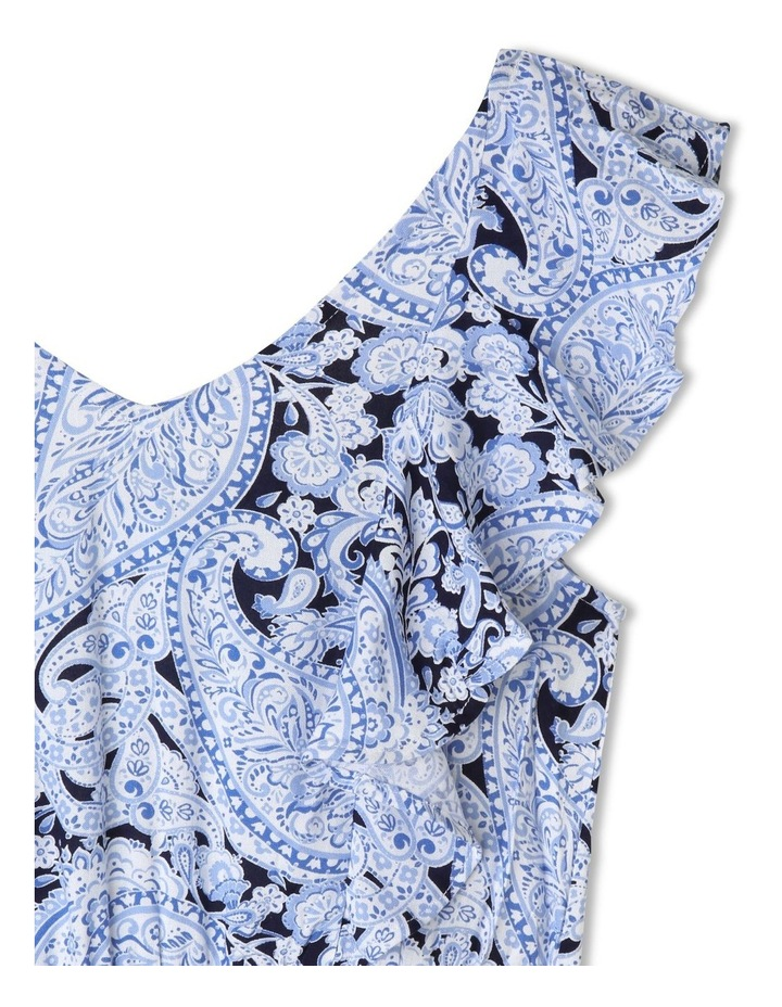 Woven Frill Dress with Belt image 2