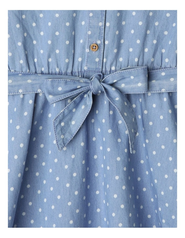 Chambray Belted Dress image 4