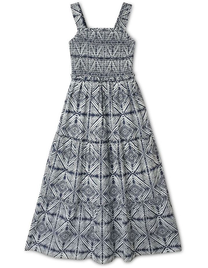 Woven Maxi Dress with Shirred Bodice image 1