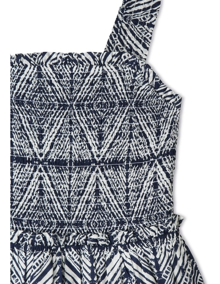 Woven Maxi Dress with Shirred Bodice image 2