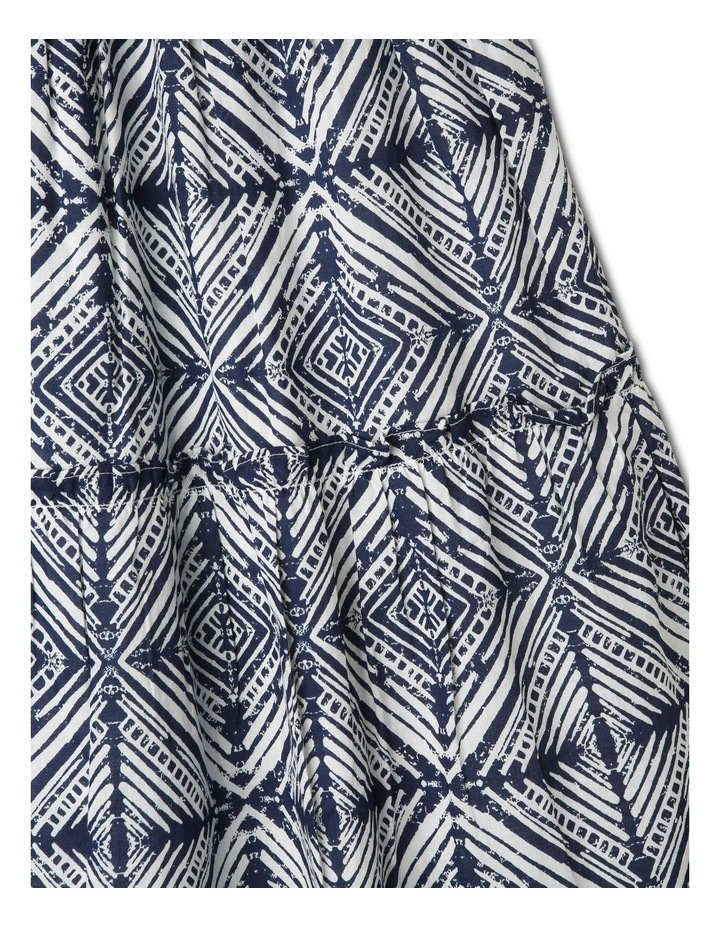 Woven Maxi Dress with Shirred Bodice image 3