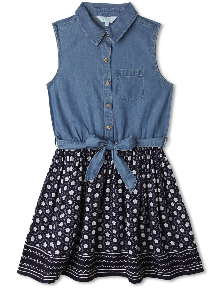 Chambray Shirt Dress image 1