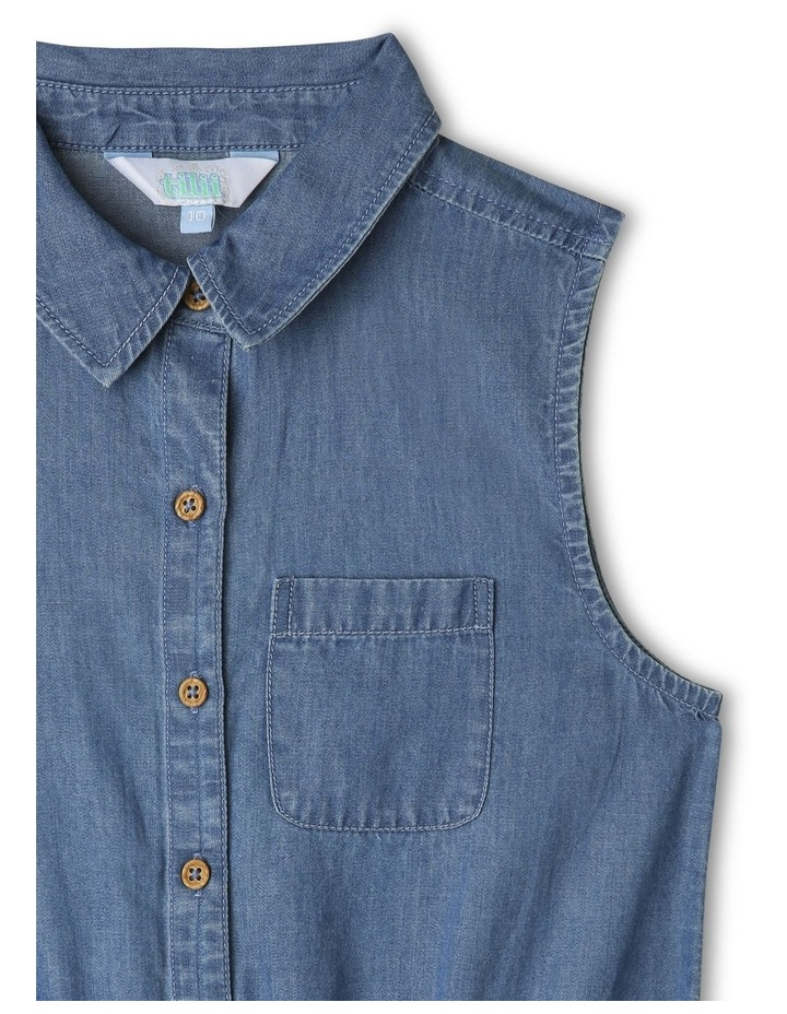 Chambray Shirt Dress image 3