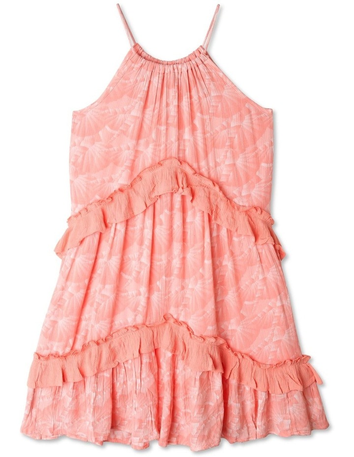 Woven Halter Neck Tiered Dress image 1